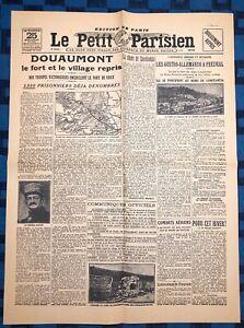 La-Une-Du-Journal-Le-petit-parisien-25-Octobre-1916-Douaumont-Repris