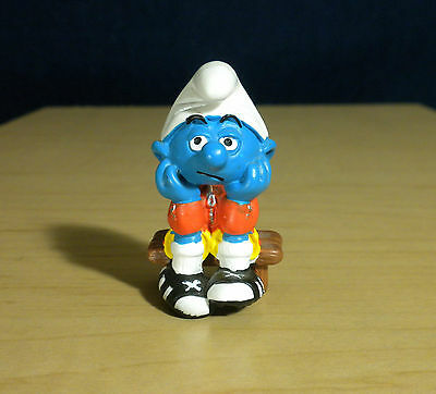 Smurfs 40215 Wind Surfer Smurf Figure Vintage Surf Board Toy Figurine Schleich