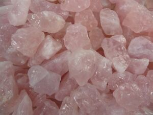 2 Pounds of 'AAA' Grade Rose Quartz Rough - Cutting, Cabbing, Tumble Rocks