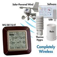 Ws-2811brn-it La Crosse Technology Wireless Weather Station Wind Rain Temp/humid