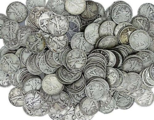 """A 90/% SILVER Walking Liberty /""""Readable Date/"""" Half Dollar US with /""""PROBLEMS/"""""""