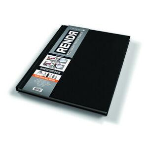 """Crescent Rendr No Show Thru Lay Flat Sketchbook 8.5x11/"""" 48 sheets"""