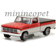 GREENLIGHT 29862 1967 FORD F-100 PICK UP TRUCK with BED COVER 1/64 RED / WHITE