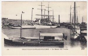 DEAUVILLE-LA-PLAGE-FLEURIE-Yacht-Basin-Normandy-France-c1910s-postcard