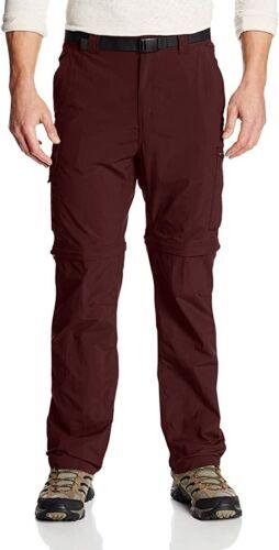Details about  /Columbia Silver Ridge Nylon Convertible Pants in Dark Merlot Size 30 NEW