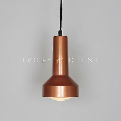 Copper Pendant Light - PIPER - Modern Cafe Loft Bar Home Warehouse Lighting NEW