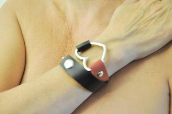 Halsband mit Herz  Zweifarbig Armband Halskette Kette Vintage Gothic