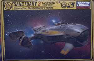 Borderlands-3-Diamond-Loot-Chest-Collector-039-s-Sanctuary-3-Ship-Snap-Model-ONLY