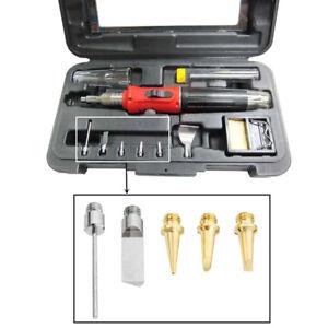HS-1115K 10 IN 1 Butane Gas Soldering Iron Kit Welding Kit Torch Pen Tool USA