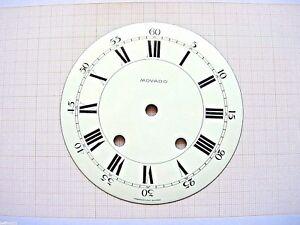 Cadran-email-pendule-MOVADO-horloge-horloger-Uhr-Clock-Swiss-made-dial-151-mm