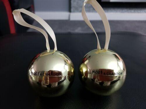 NEW 2 x Moet /& Chandon Christmas Baubles wedding favour pub//bar//mancave