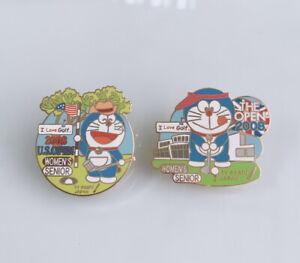 Doraemon Limited Pin US ENGLAND Open Golf Women's 2008 TV ASAHI Tokyo Japan