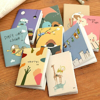 New Mini Cute Cartoon Notebook Handy Pocket Notepad Paper Journal Diary Random