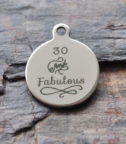 50th Cumpleaños Edad Collar Colgante de Acero Inoxidable 30th 40th señoras Regalo para Hombre