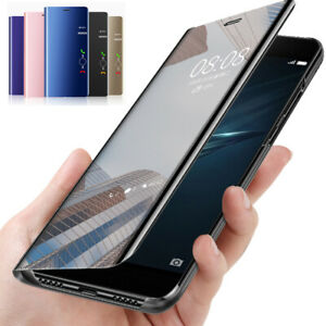For-Samsung-Galaxy-Note-10-Plus-9-8-5-Clear-Mirror-Leather-Flip-Stand-Case-Cove