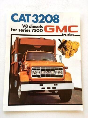 1976 GMC Caterpillar Diesel Truck Engine Original Car Sales Brochure Folder