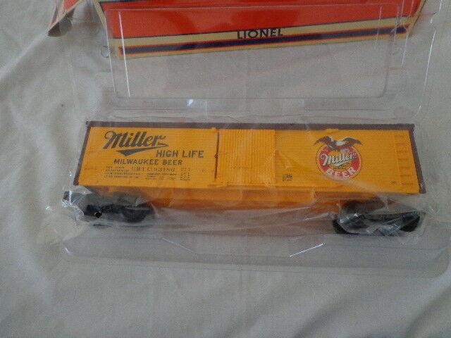 NIB   O  0/27  LIONEL MILLER'S BEER EAGLE  BILLBOARD REEFER CAR