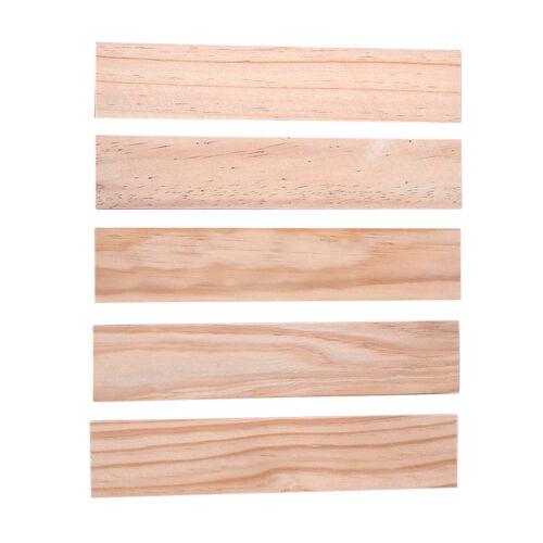 5pcs Natural Wooden DIY Craft Sticks Pine Wood Strips Bar Thickness 5//3//8mm
