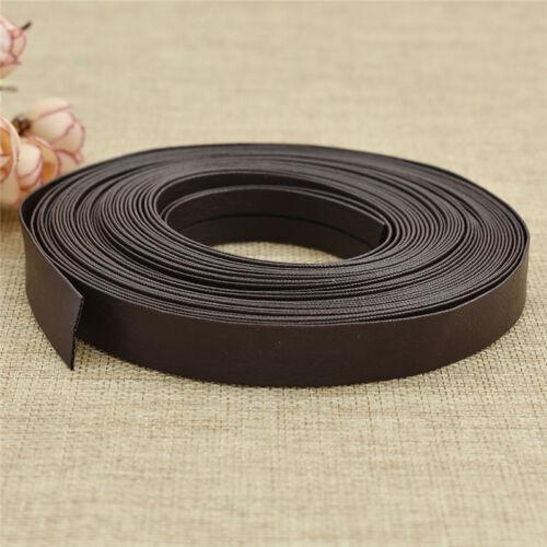 10m PU Leather Ribbon Fabric DIY Handmade Webbing Choker Clothes Sewing Material