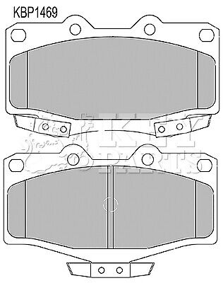 Brake Pads Set fits TOYOTA LAND CRUISER HDJ80 4.2D Front 92 to 97 With ABS New