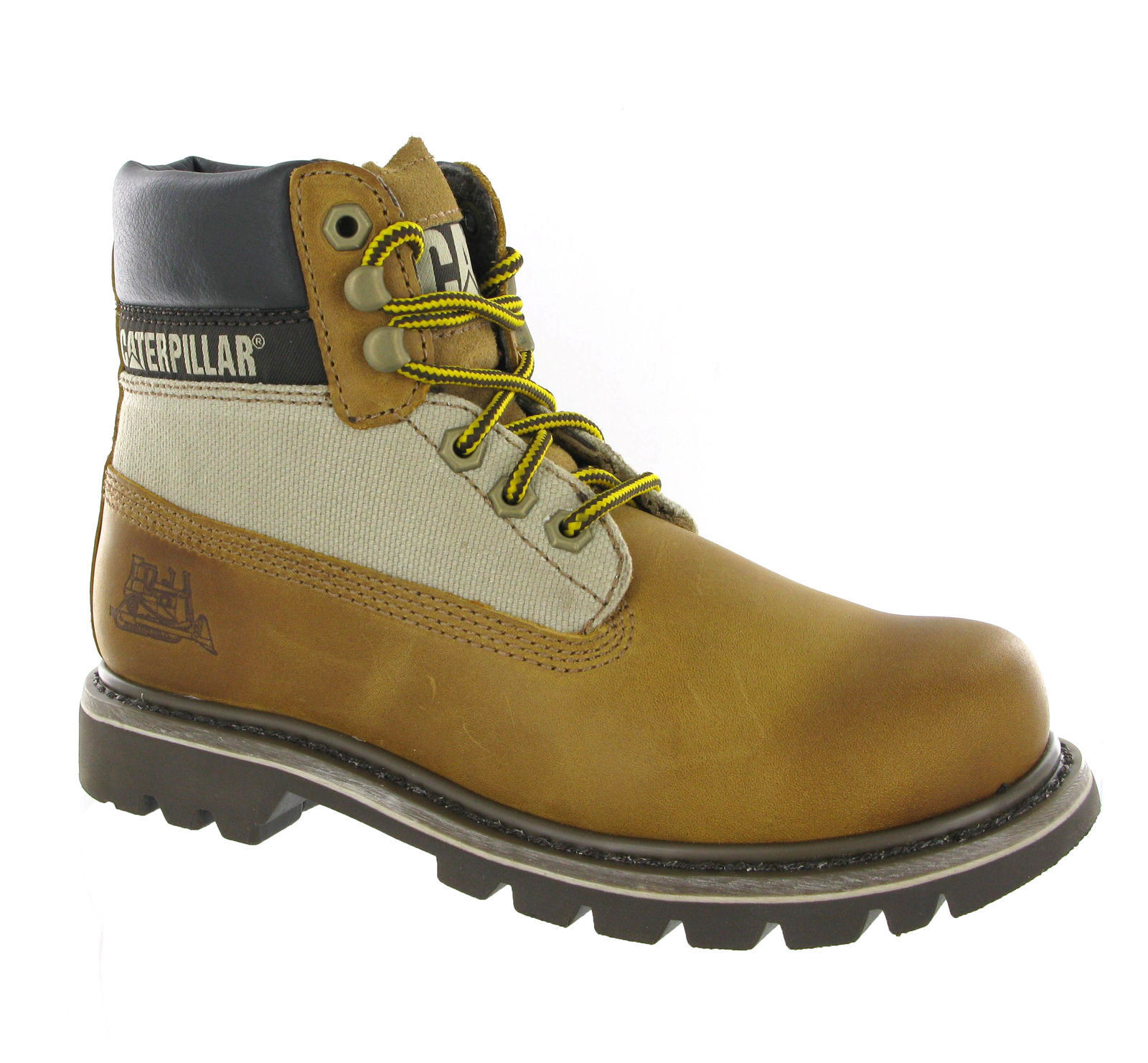 7a3d46a7 Cat Caterpillar Colorado Beaned Cuero Tostado Botas al Tobillo Unisex UK-3
