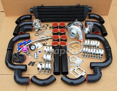 DIY Turbo Kit,12x Black pipe+ Black coupler+ Wastegate+ Manifold,Downpipe Flange