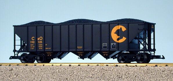 USA Trains G Escala 14013 70 tonelada 3 Bay Tolva de Cochebón Chessie-Negro