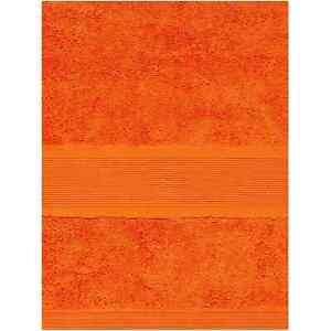 Linea Certified Egyptian Cotton Hand Towel Orange tangerine Twin Pack £12