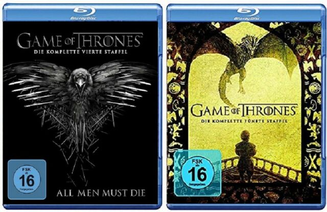 Game of Thrones Staffel 4+5 Blu-ray Set NEU OVP