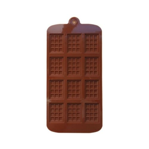12 Cavity Waffle Chocolate Candy Ice Jelly Silicone Mold DIY Children Cake Tool