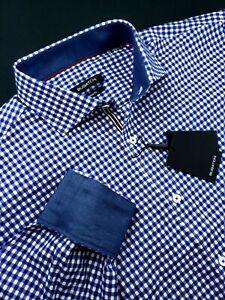 Bugatchi-Classic-Fit-Gingham-Check-Sport-Shirt-Navy-Blue