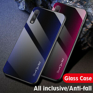 Carbon-Fiber-Texture-Glass-Hard-Case-Cover-For-Huawei-Honor-9X-Pro-20-10-Lite-8X