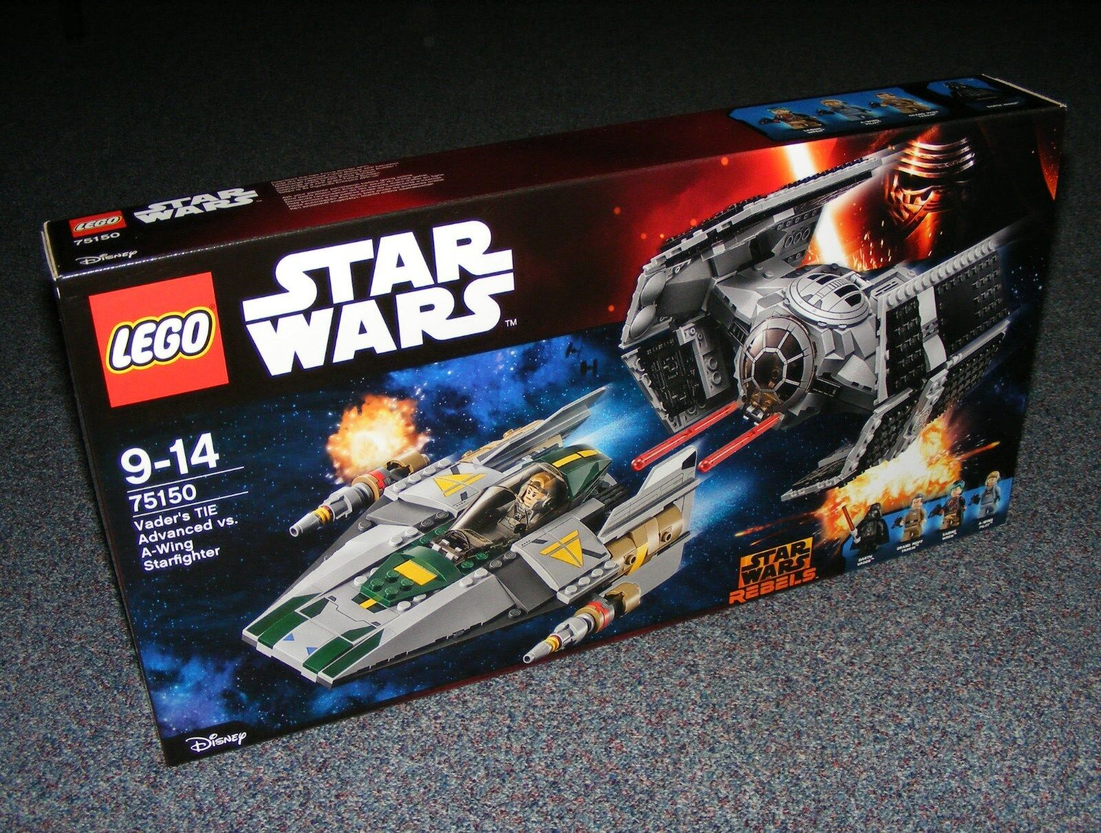 STAR WARS LEGO 75150 VADER'S TIE ADVANCED Vs A-WING STARFIGHTER BRAND NEW SEALED