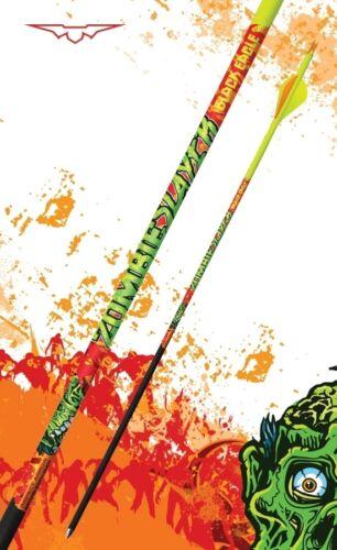 ".003/"" /& Blazer Vanes 1//2 Dozen New Black Eagle Zombie Slayer Carbon Arrows 400"