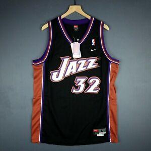 more photos 3dbb2 3570e 100% Authentic Karl Malone Vintage Nike Jazz Swingman Jersey ...
