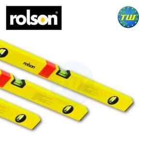 Contemplatif Rolson 3pc Triple Set Pack Double Milled Pro Box Beam Spirit Niveau 18 36 & 48in-afficher Le Titre D'origine