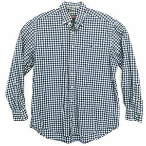 Vineyard-Vines-Tucker-Shirt-Blue-Gingham-Mens-L-Large-Long-Sleeve-Shep-Ian-WHALE