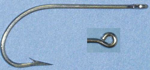 Mustad 3407DT1//0100 3407DT #1//0 100Ct Tinned Oshaughnessy Hook 6061