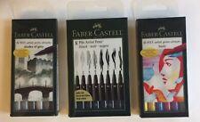 FABER-CASTELL Tuschestift PITT artist pen M S XS schwarz 4er Etui F