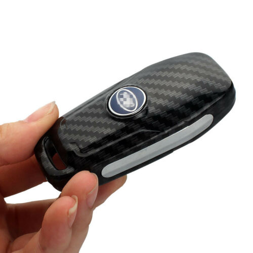 Silicone Carbon Fiber Car Key Protective Case Shell For Ford Edge Mondeo Mustang