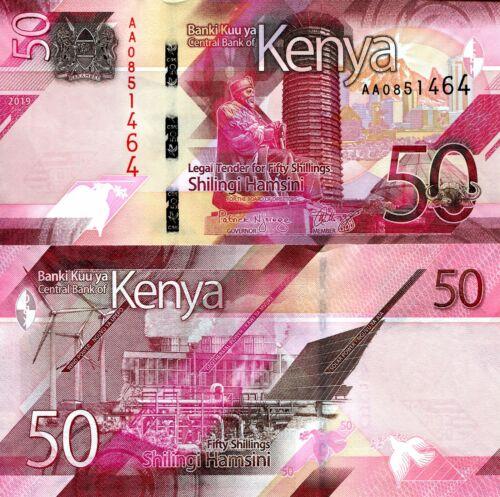 KENYA 50 shillings Banknote World Paper Money UNC Currency Pick p-New 2019 Bill