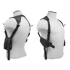 Black Shoulder Holster w/ Mag Pouches For Ruger SR9 SR40 P85 P89 P95 Beretta PX4