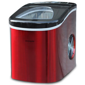 Frigidaire-26-Lbs-of-Ice-Per-Day-Countertop-Stainless-Steel-Ice-Maker-Red