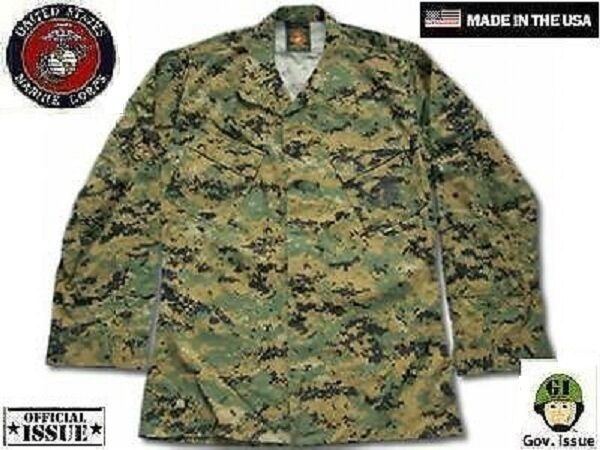 US Marine Corps USMC MARPAT Digital Army Woodland Digital MARPAT Giacca Coat MR MEDIUM REGULAR d4c85f