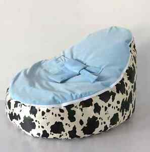 Outstanding Details About New Baby Bean Bag Cow Dots Design Snuggle Bed Nursery Baby Sleeper No Stuffings Bralicious Painted Fabric Chair Ideas Braliciousco