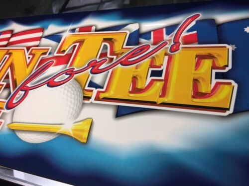 """Golden Tee Fore Complete Arcade Marquee 26/""""x6.9/"""""""