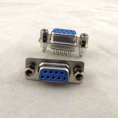 2x D-SUB DB9 9Pin Female DIP PCB Straight Solder Connector Socket Adapter 2 Rows