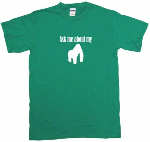 Ask Me About My Gorilla logo kids tee shirt Choisir Taille /& Couleur 2 t-XL