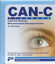 CAN-C colirio 2 X 5ml viales lubricante antioxidante N-acetylcarnosine Nuevo