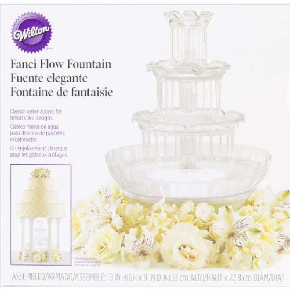 Wilton 306-1147 Fanci Flux gateau de mariage fontaine Décoration Fête Cupcake Ronde Tier